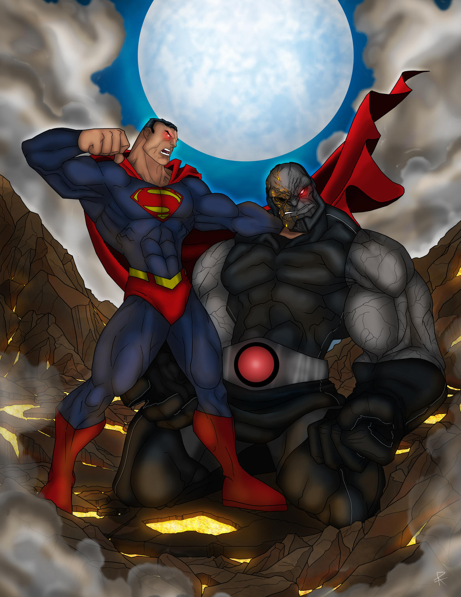 Superman Vs Darkseid Wallpaper Superman vs darkseid byHulk Vs Darkseid