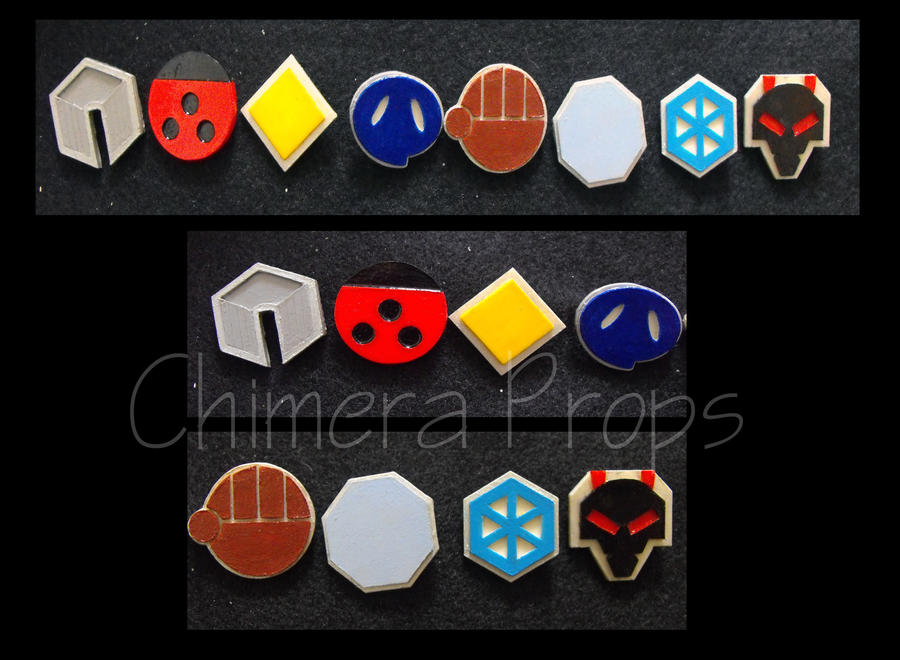 Johto Pokemon Badges by ChimeraProps
