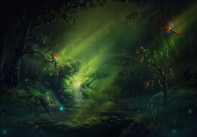 Forest by Tira-Owl
