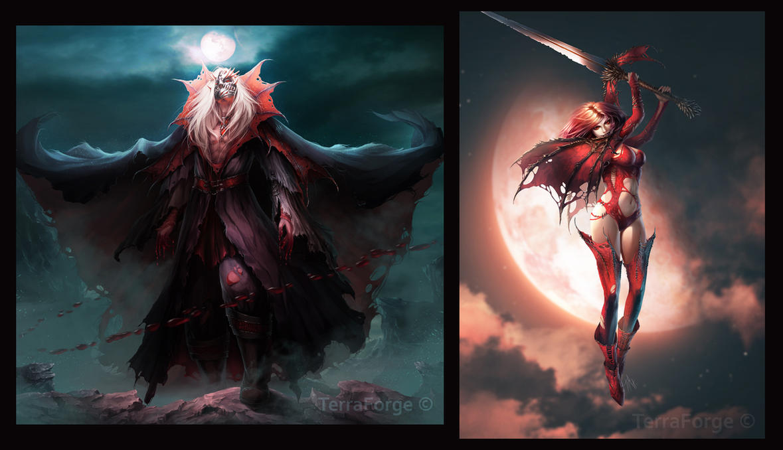 Ancient vampires by Tira-Owl
