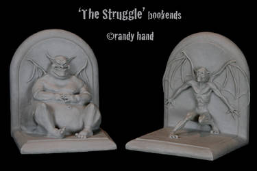 The Struggle bookends by RandyHand