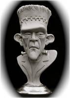 Frankenstein's Monster-bust by RandyHand
