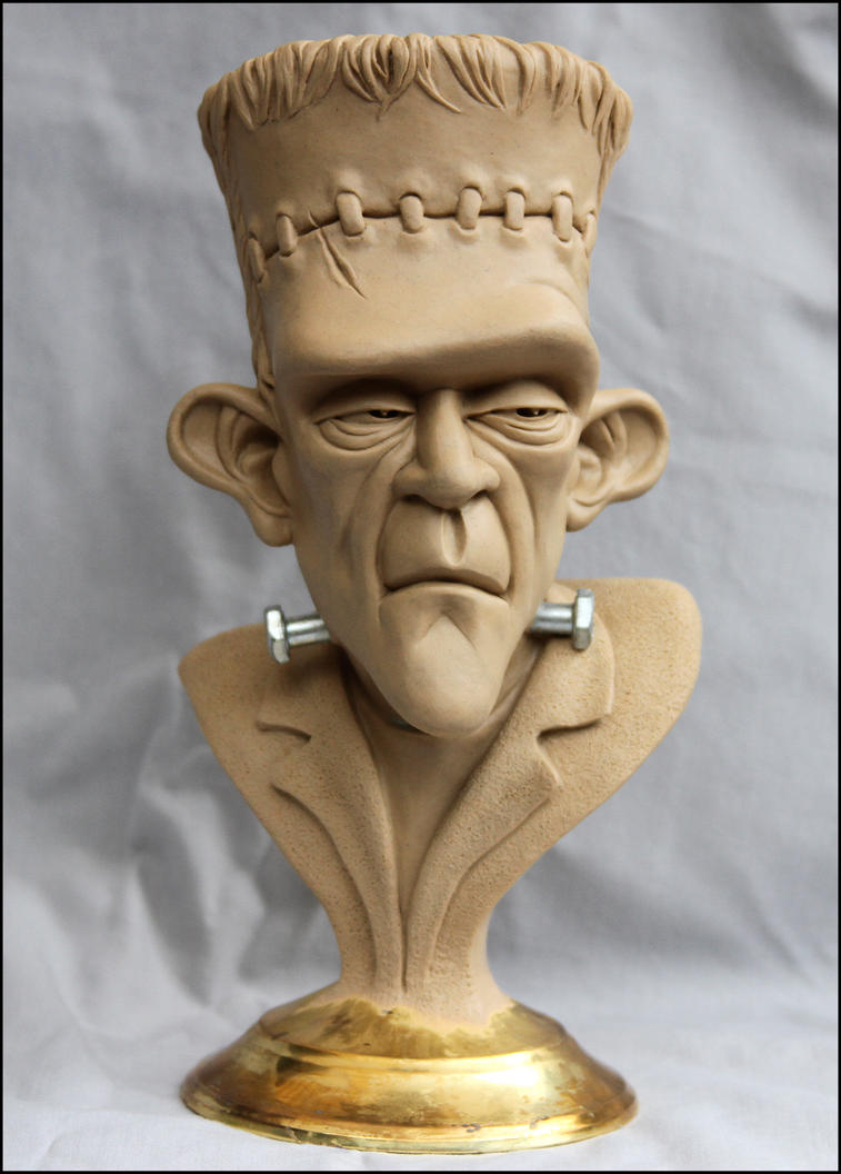 Frankenstein's Monster-bust final clay by RandyHand