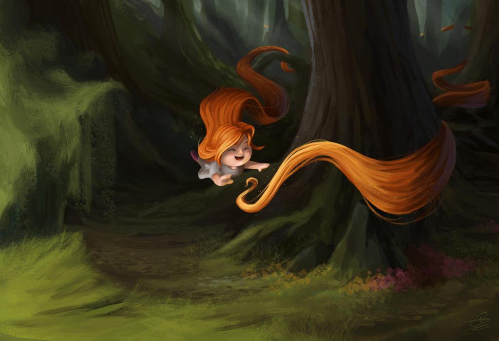 magical hair happiness by wilson-naraku