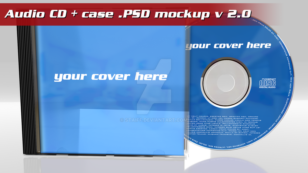 cd case artwork template - audio cd case psd template mockup by staiff on deviantart