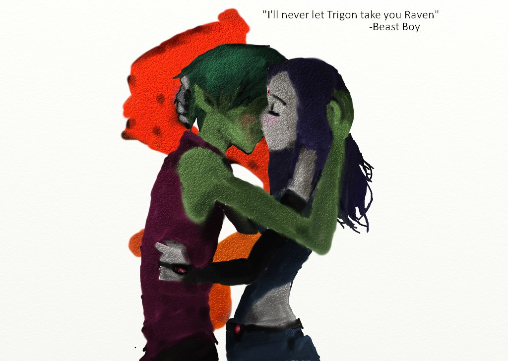 Beast Boy And Raven Kiss Beastboy And Raven Kiss Episode