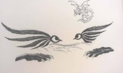 Inktober 2018 - Day 28: Gift by SilverWolfi