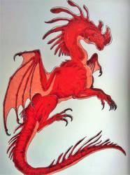 Red dragon by SilverWolfi