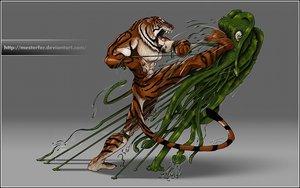 Tigrenido Vs Gorpodoide by Hispanart