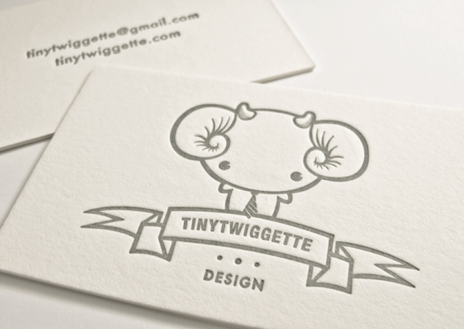 Letterpress Business Cards by tinytwiggette