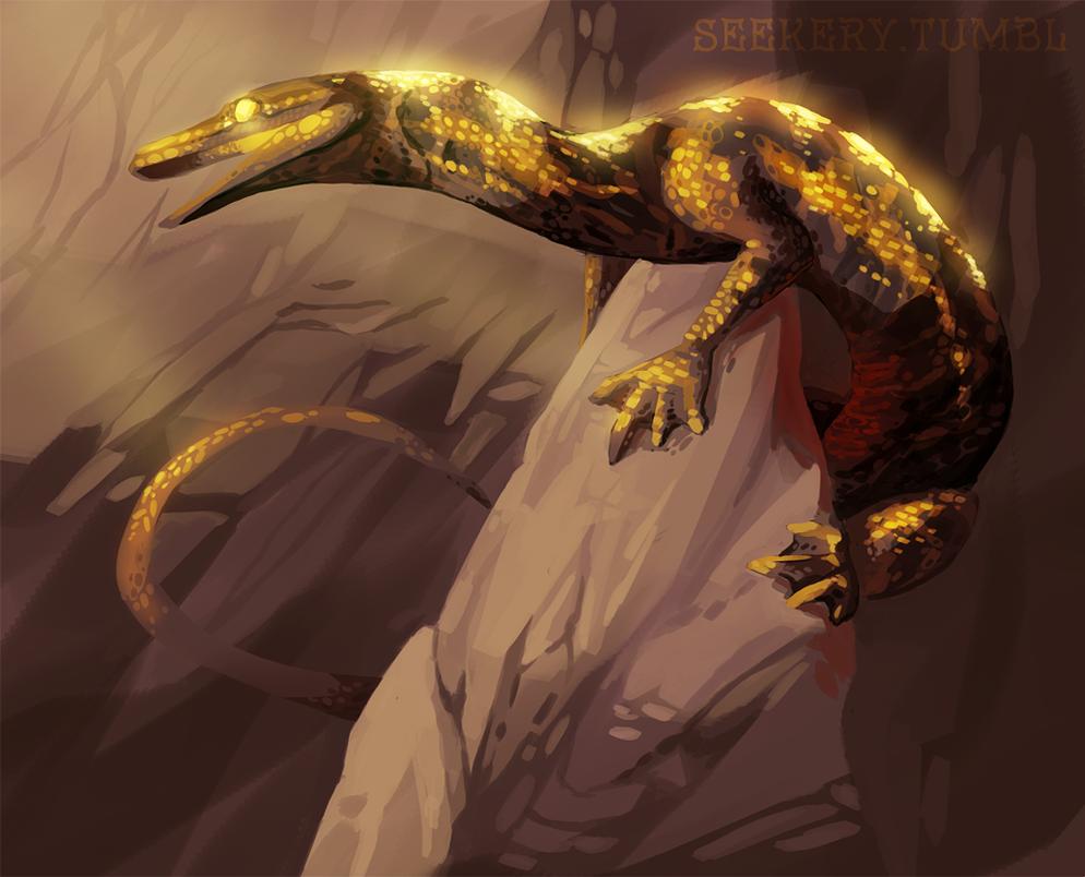 Cave Creature by Lacium