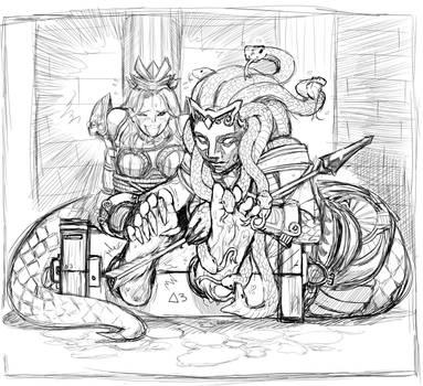 Athena and Medusa Commission