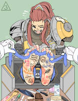 Brigitte in a Bind Commission by Triangles3