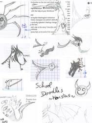 Doodles at school: monster