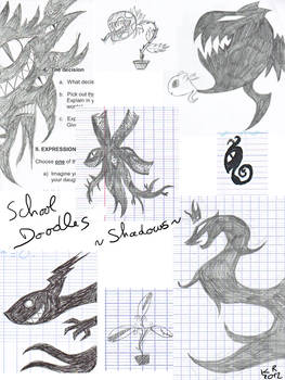 Doodles at school: shadows (and plants)