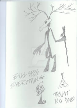 Doodles: Bill Cipher and monsters