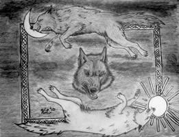 Wolves Of Ragnarok by t3hsilentone