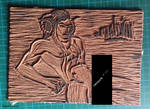 Linogravure Leviathan - plaque