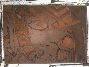 Plaque linogravure GMO Project