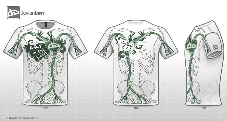 Circulatory System T-Shirt by Enot91