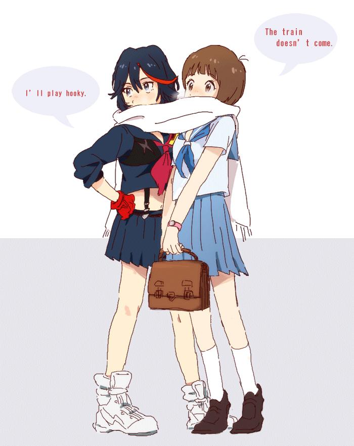 Ryuko And Mako By Nwkaaa On Deviantart