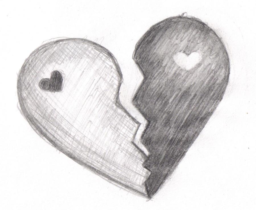 Easy Pencil Drawings Of Broken Hearts Softland
