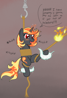 Incendia Captured! Again! by DarkKnightHoof