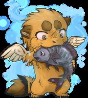 Shakumi and fish