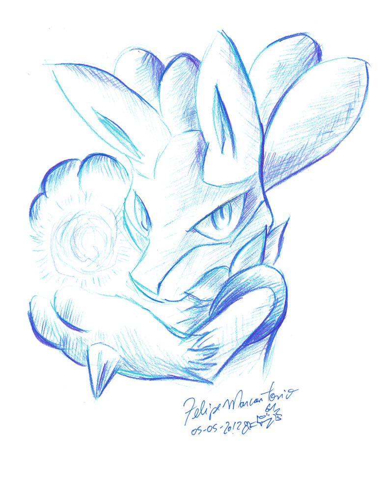 Color Sketch -Blue- Lucario By Yuski On DeviantArt