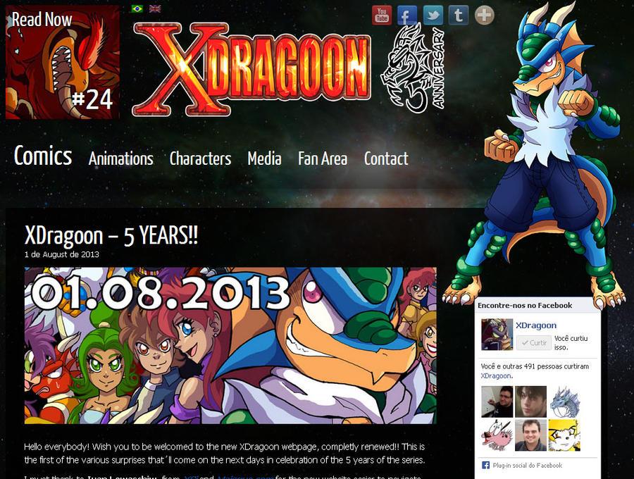 New XDragoon Website! by yuski