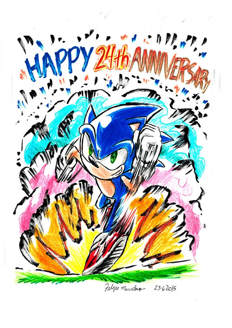 Sonic 24th Anniversary by yuski