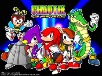 Chaotix: 10th Anniversary by yuski