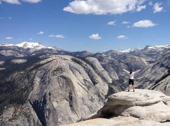 Climbing the Half Dome, CA by RockBottomMusician