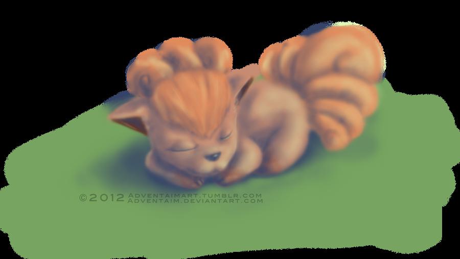 Sleeping Vulpix by adventaim