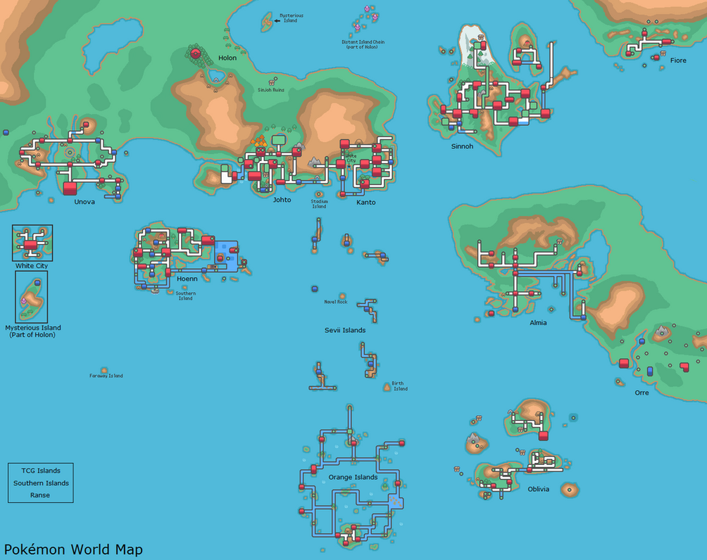 Pokemon World Map By Dr Big47 On Deviantart
