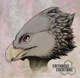 Bird man with a bird plan by ErithacusCreations