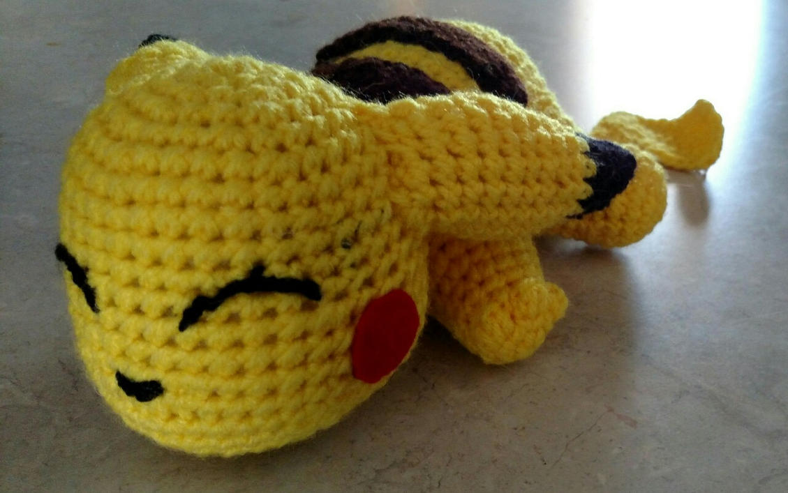 Crochet Pikachu by Lumos5000