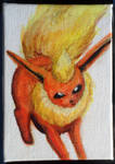 Mini Eeveelution canvases - Flareon