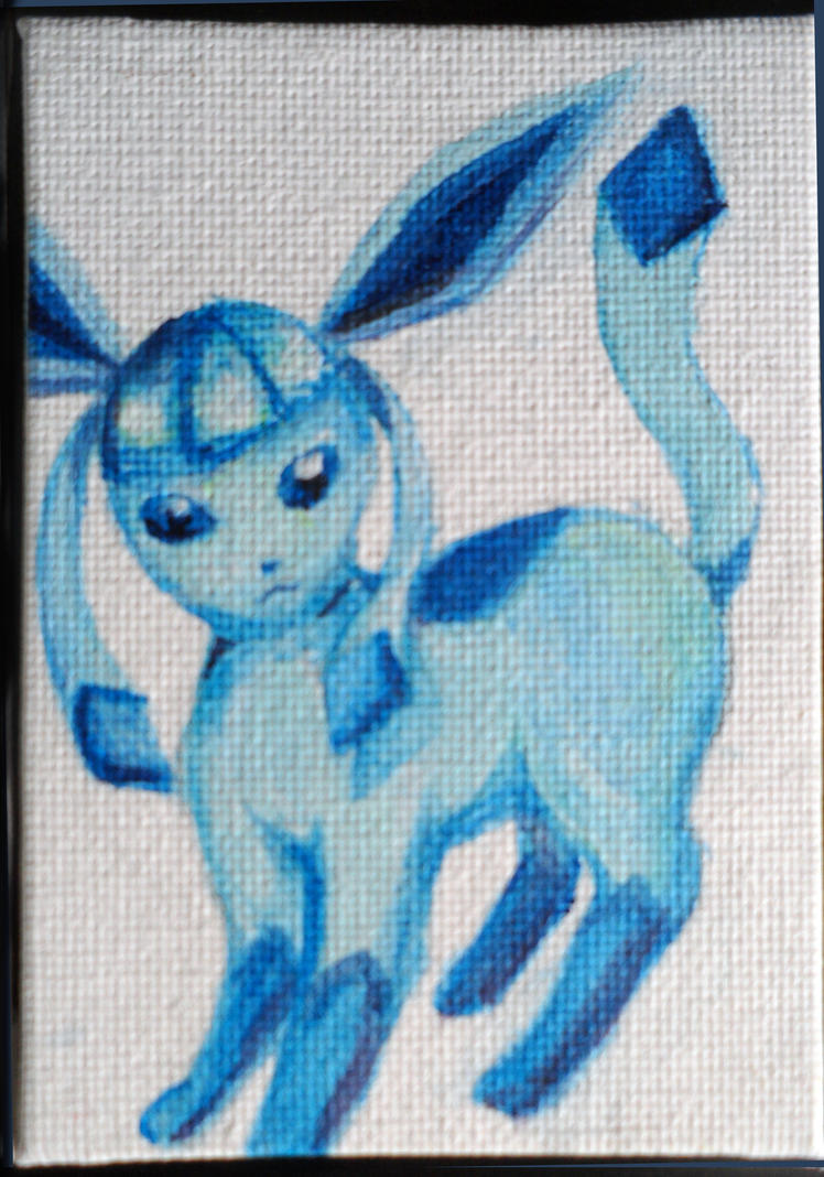 Mini Eeveelution canvases - Glaceon by Hatters-Workshop