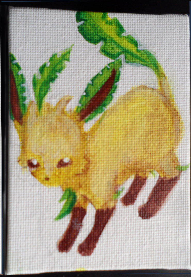 Mini Eeveelution canvases - Leafeon by Hatters-Workshop