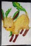 Mini Eeveelution canvases - Leafeon