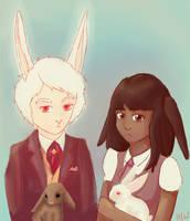Bunny Portrait by Hatters-Workshop