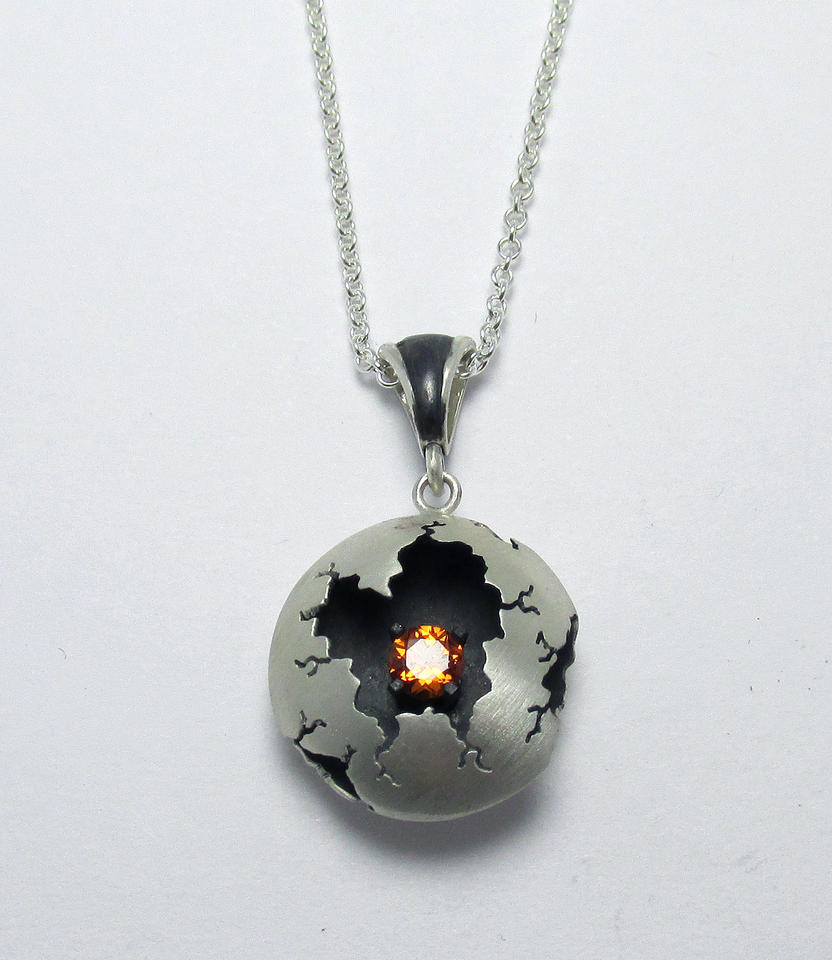 Spessartite Garnet Pendant by Utinni