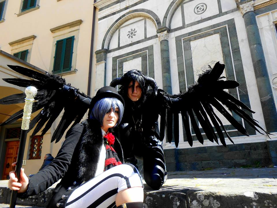 Sebastian true form and Ciel Phantomhive by KuroAkuma-Cosplay on ...