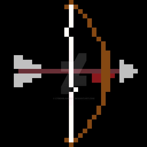 Pixel Bow By Cyberbladeart On DeviantArt