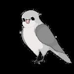 lovebird pixel by cthulhuko