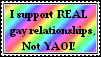 Pro Gay - Anti Yaoi stamp. by Zeldagirl1995