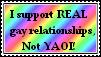 Pro Gay - Anti Yaoi stamp. by Zeldagirl1995