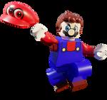 Lego Mario with Cappy render