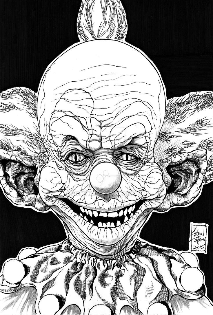 shorty killer klown from outer space inks by arttham on deviantart